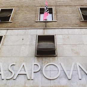 CasaPound's squat cum HQ, in Rome.