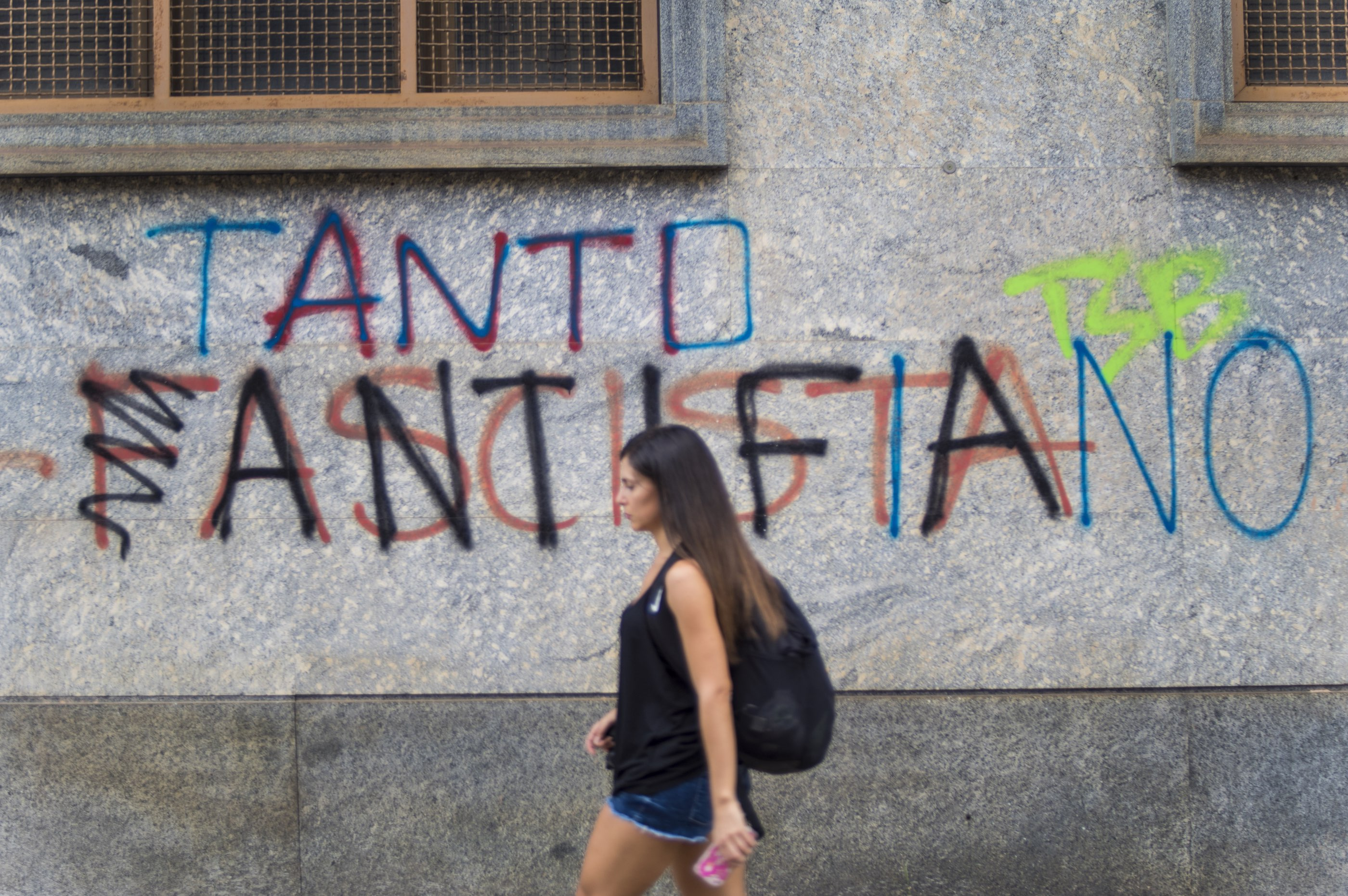 So much fascism and anti-fascism. Turin, August 2019.