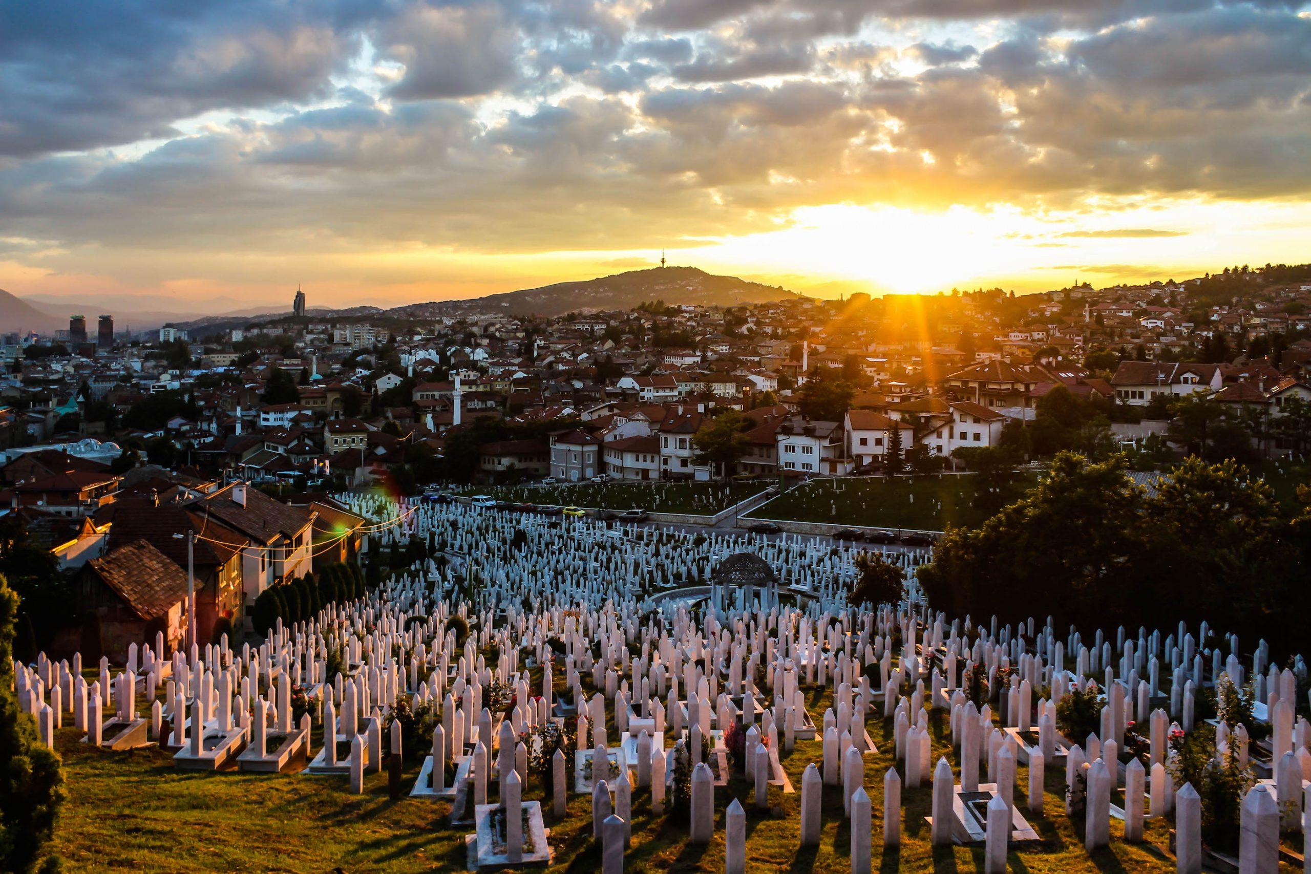 Casualties of war. Martyrs' Memorial Cemetery Kovači, Sarajevo.
