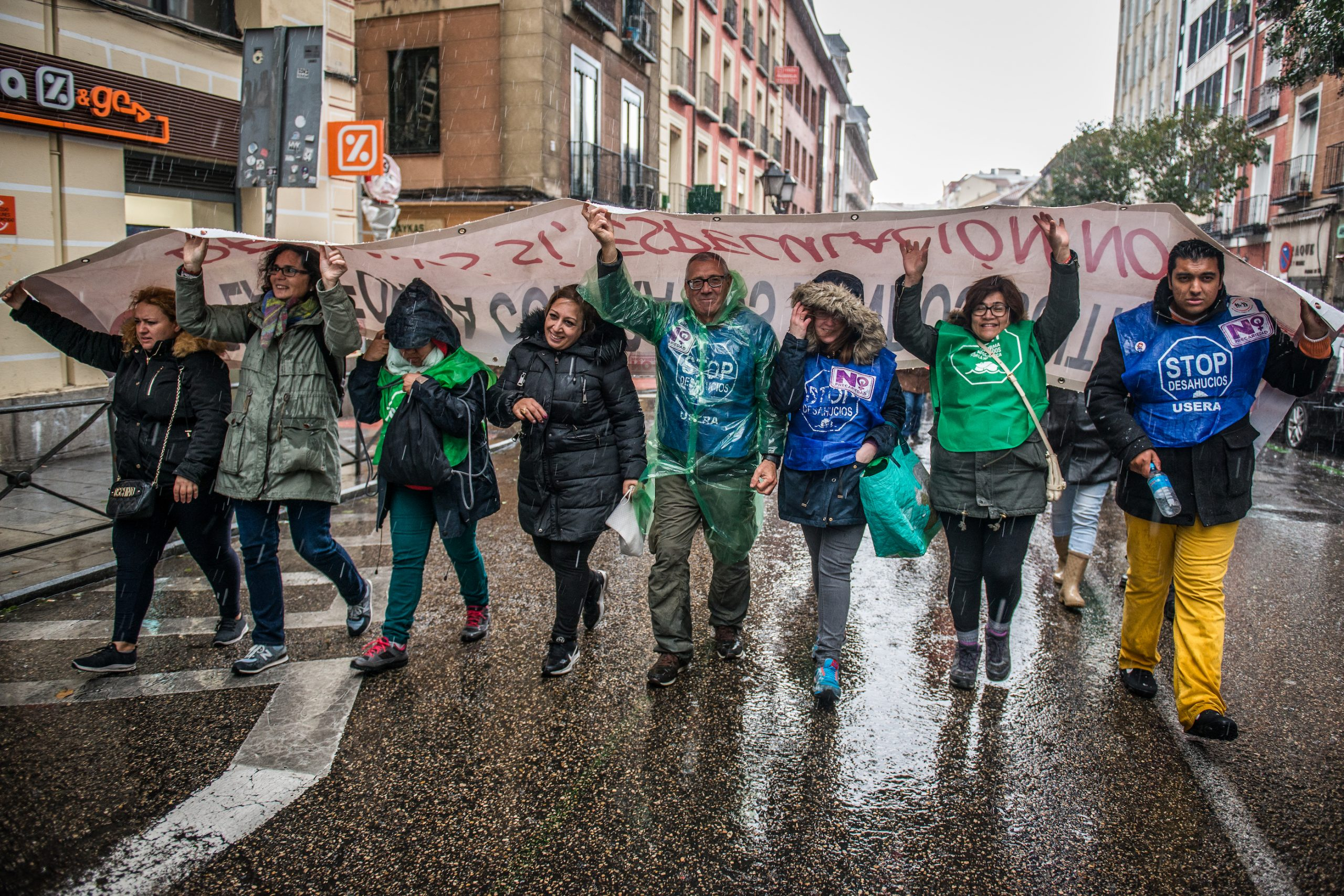 Civil rights marchers. Madrid, April 2019.