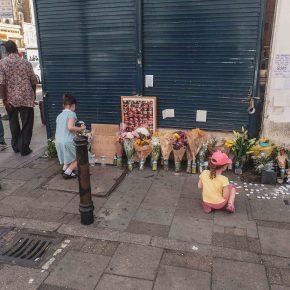 Finsbury Mosque Attack memorial. London, June 2017.