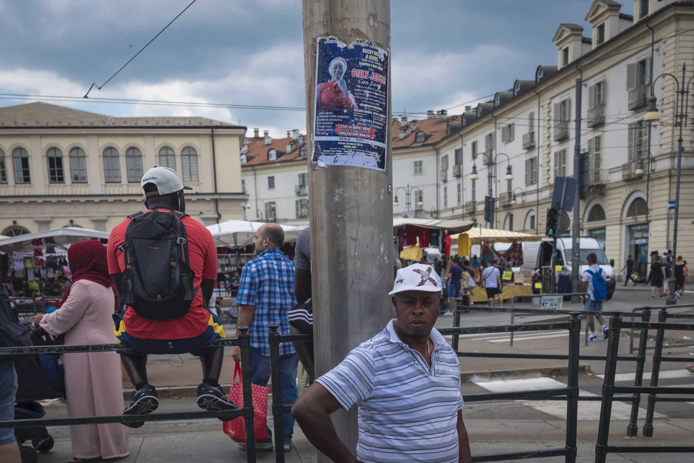 Not a jihadist. African Evangelical, Turin.