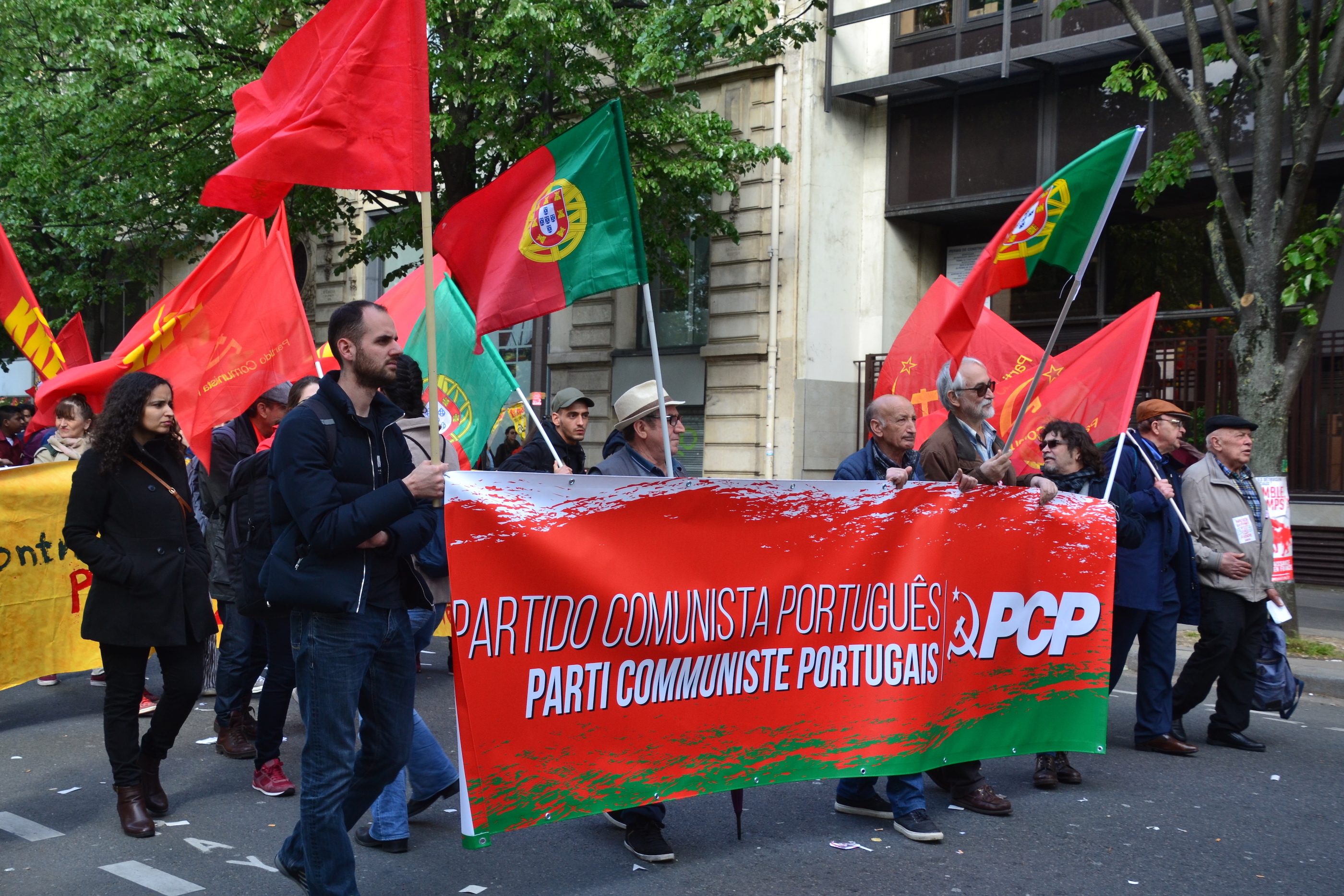 Portugal in the house. Paris, May Day 2018
