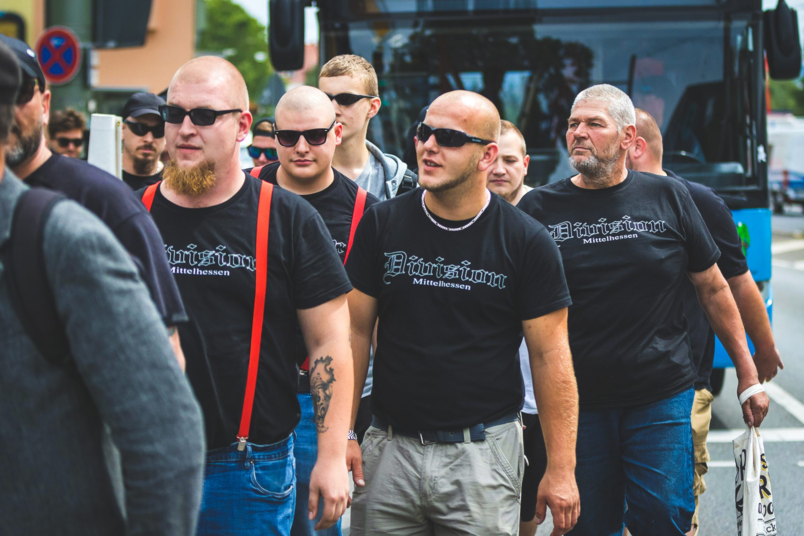 Atomwaffen Division Nazis, Kassel. Germany, July 2019.