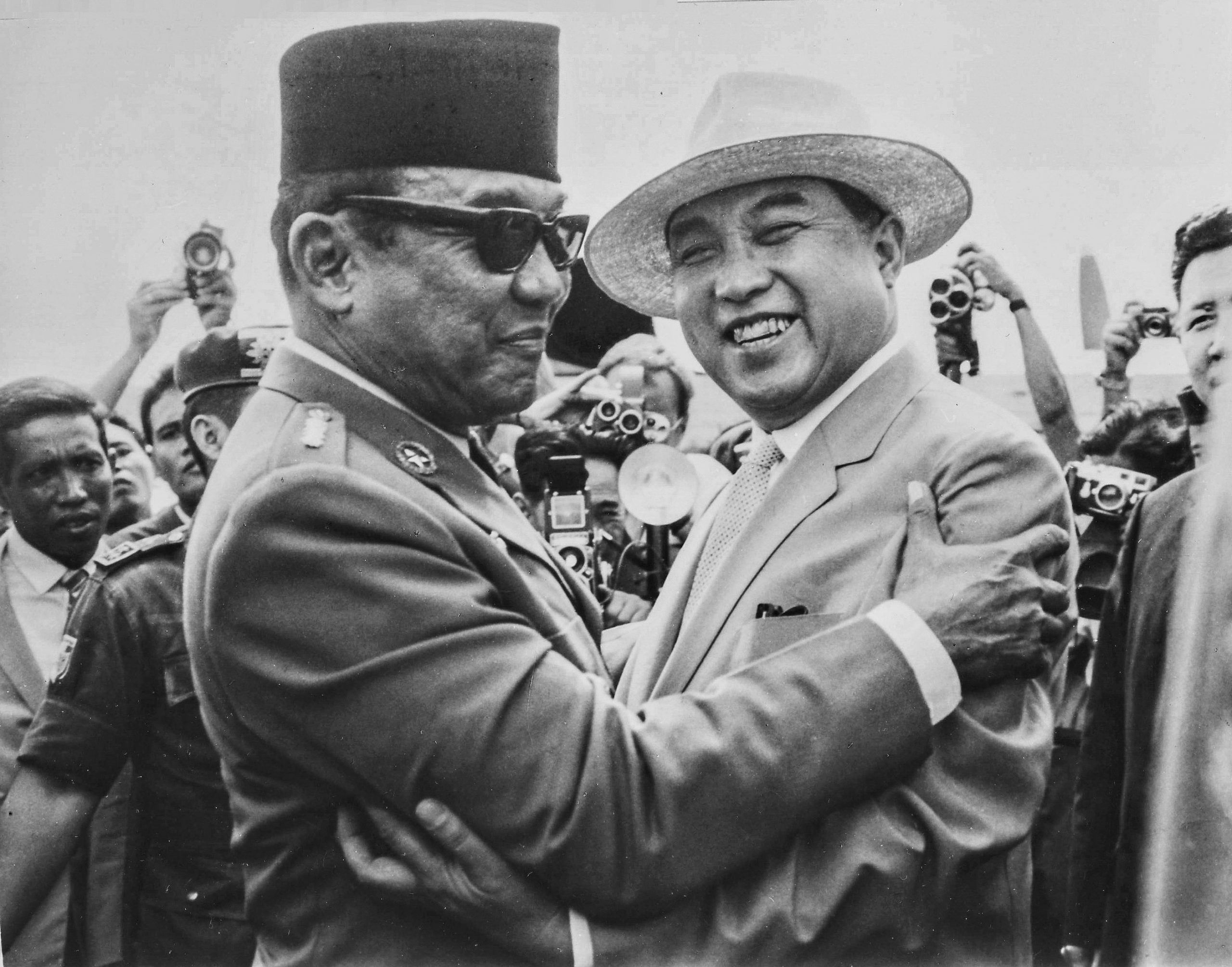 Washington didn't like them. Sukarno and Kim Il-Sung, 1965.