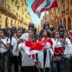 Women in front. Beirut, November 2019.