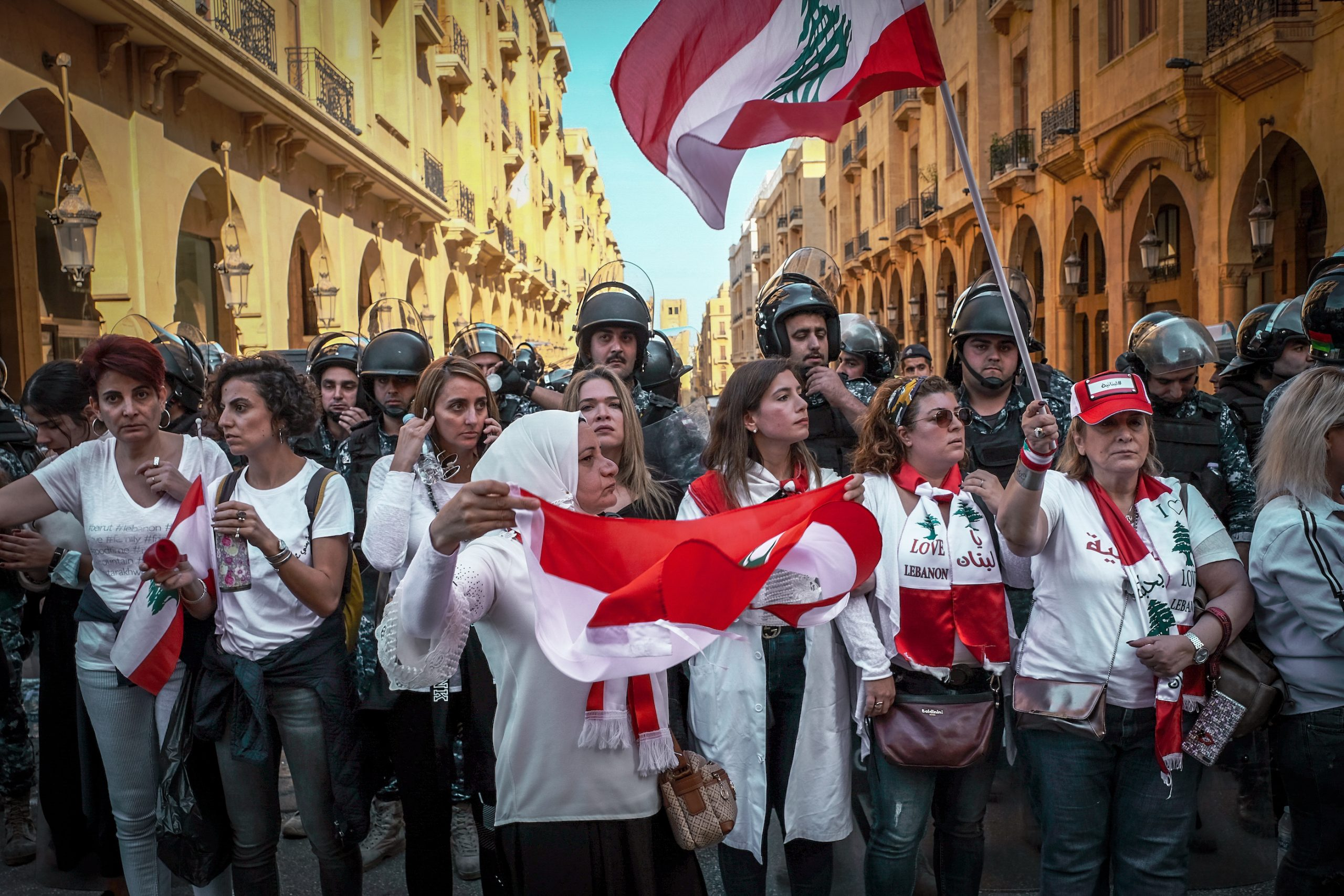 Women in front. Beirut, November 2019.